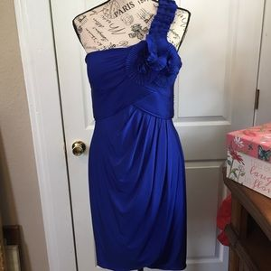 Adrienne Papell Boutique royal blue dress Sz 14